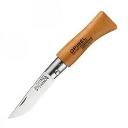 Нож Opinel №2 углеродистая сталь, рукоять из дерева бука